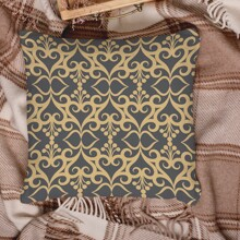 Vintage Royal Pattern Cushion Cover Without Filler