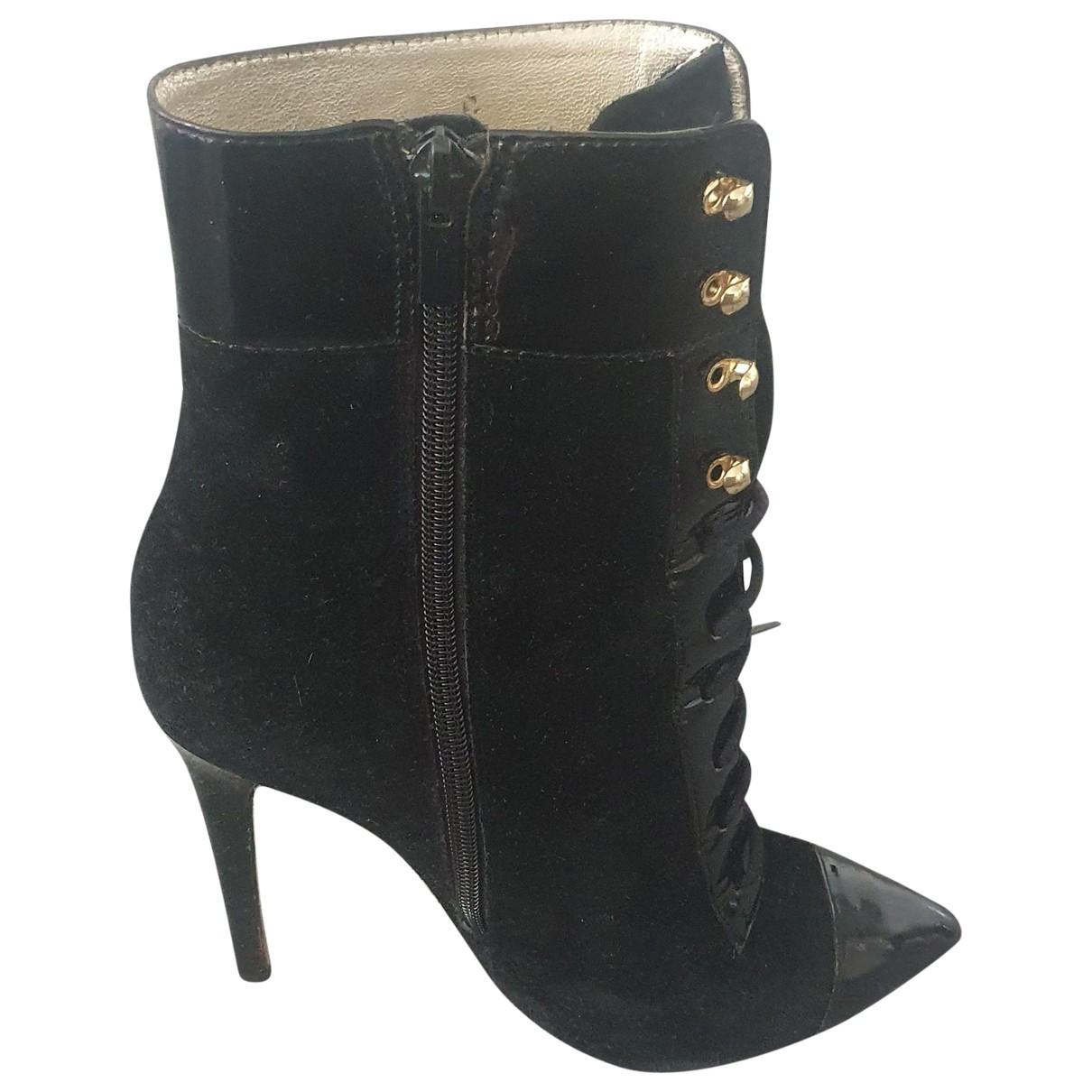 Versace X H&m \N Black Suede Heels for Women 38 EU