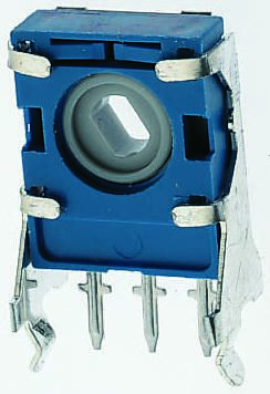 TE Connectivity 1 Gang Trimmer Carbon Potentiometer - 1MΩ, ±20%, 0.2W Power Rating, Linear, Panel Mount (Through Hole)