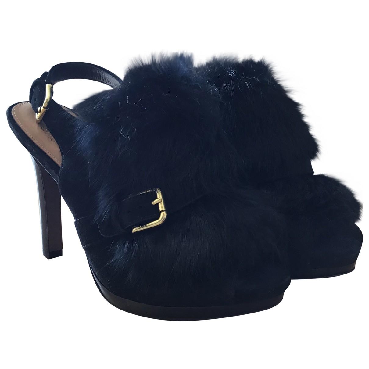 Coach - Sandales   pour femme en lapin - noir