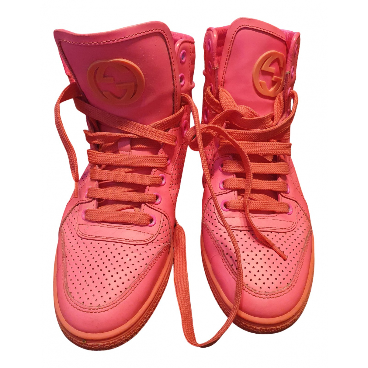 Gucci Gucci Dapper Dan Sneakers in  Rosa Leder