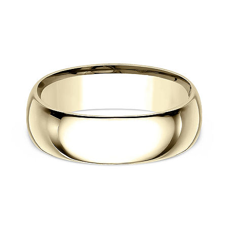 Mens 10K Yellow Gold 8MM Comfort-Fit Wedding Band, 14 , No Color Family