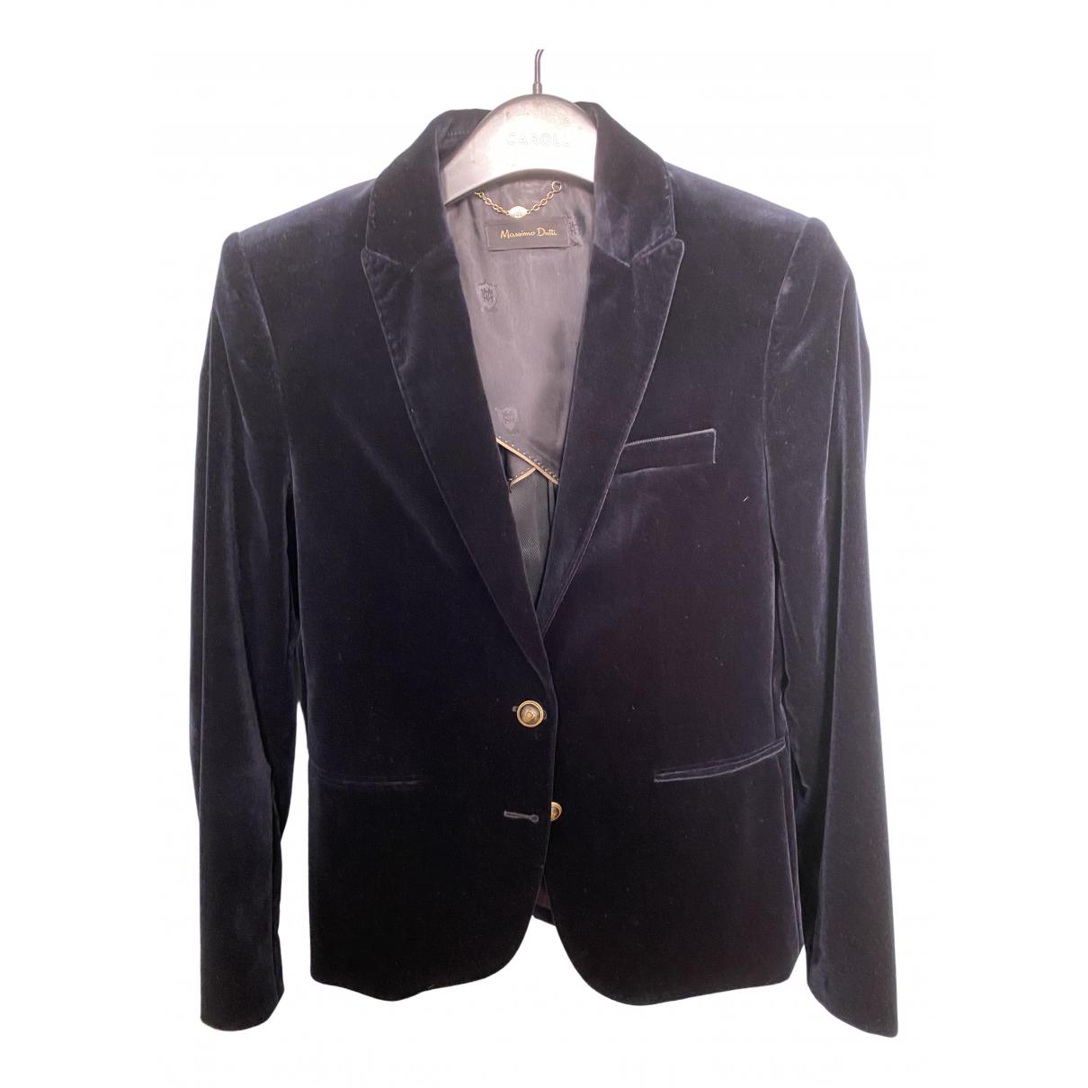 Massimo Dutti \N Blue Velvet jacket for Women 36 FR