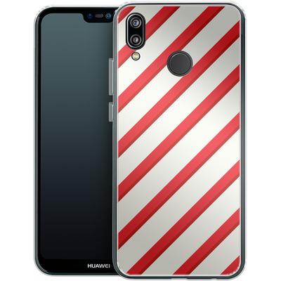 Huawei P20 Lite Silikon Handyhuelle - Candy Cane von caseable Specials