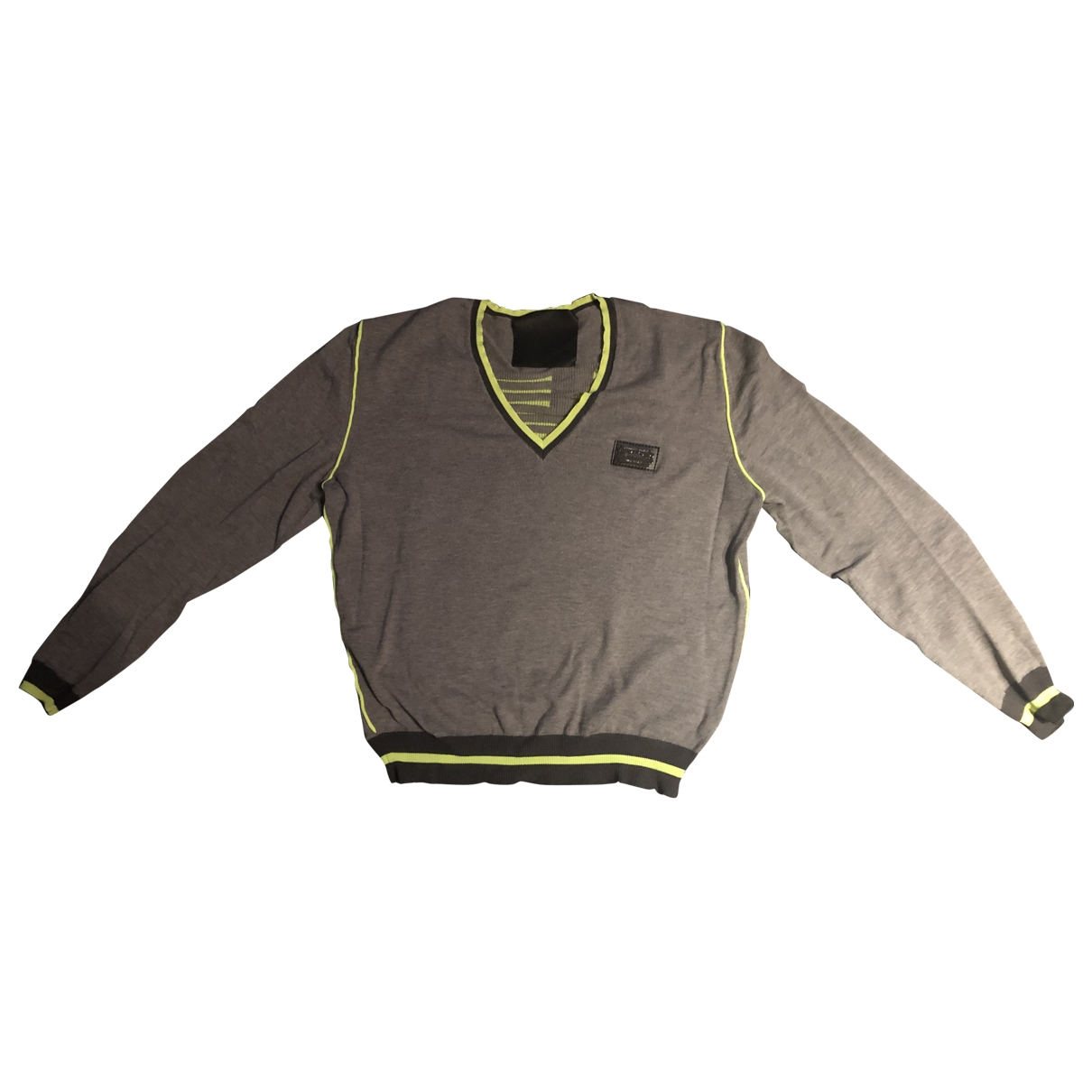 Philipp Plein \N Pullover.Westen.Sweatshirts  in  Grau Wolle