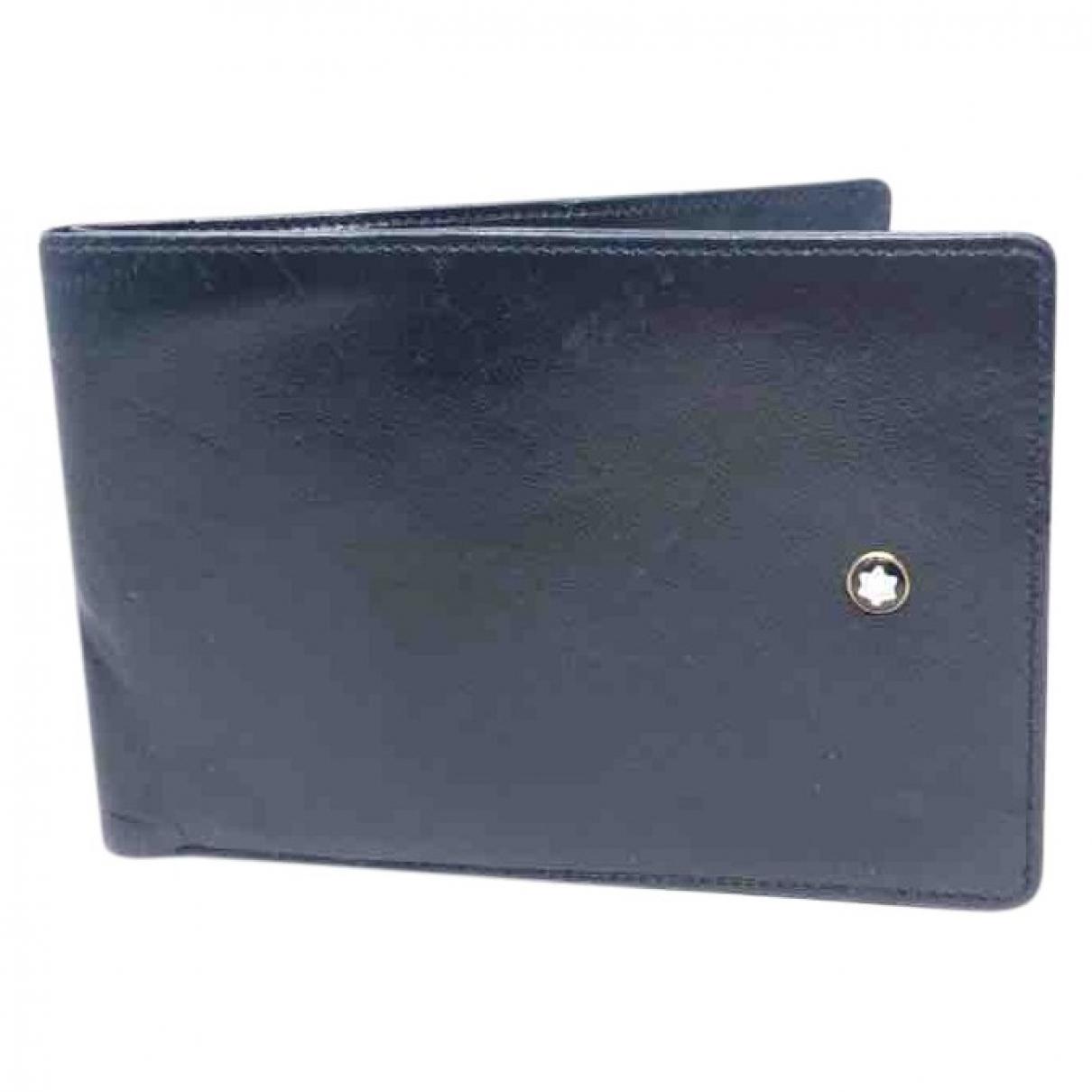Montblanc \N Portemonnaie in  Schwarz Leder