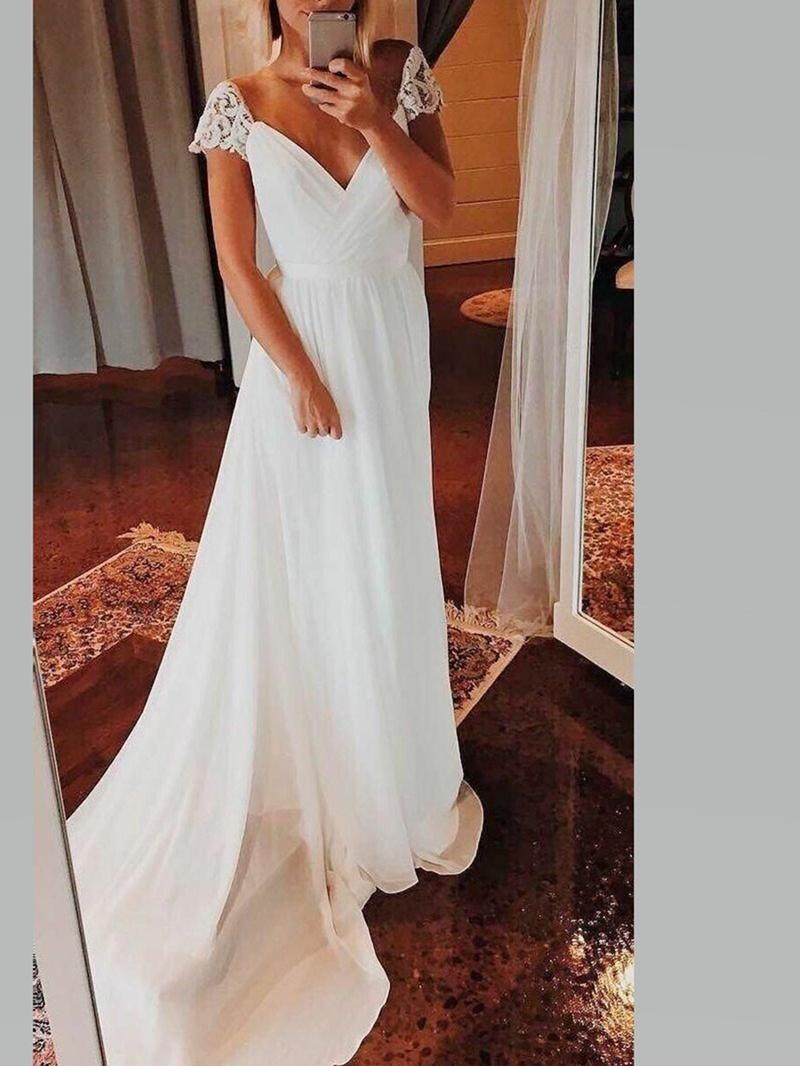 Ericdress A-Line Lace Beach Wedding Dress
