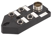 Molex 120248 Series M12 I/O module, 4 Port, 10m Cable Length