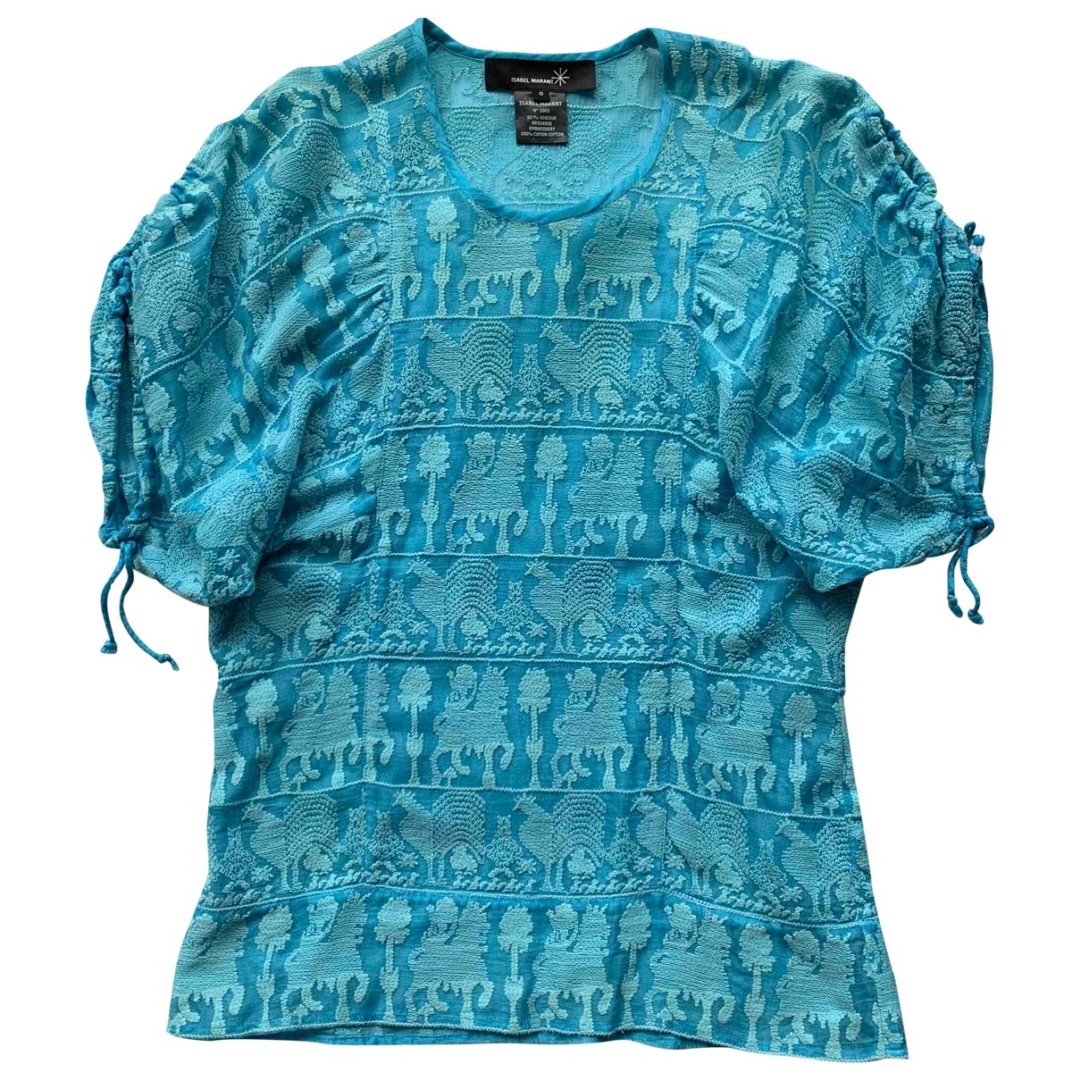 Isabel Marant - Top   pour femme en coton - bleu