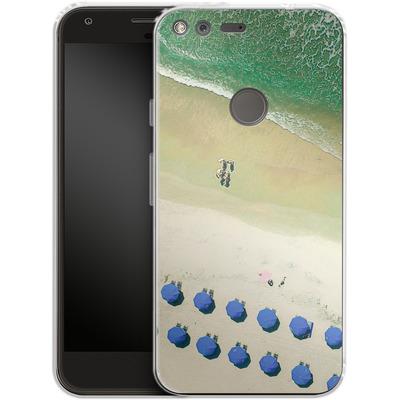 Google Pixel XL Silikon Handyhuelle - Beach Umbrellas von Joy StClaire