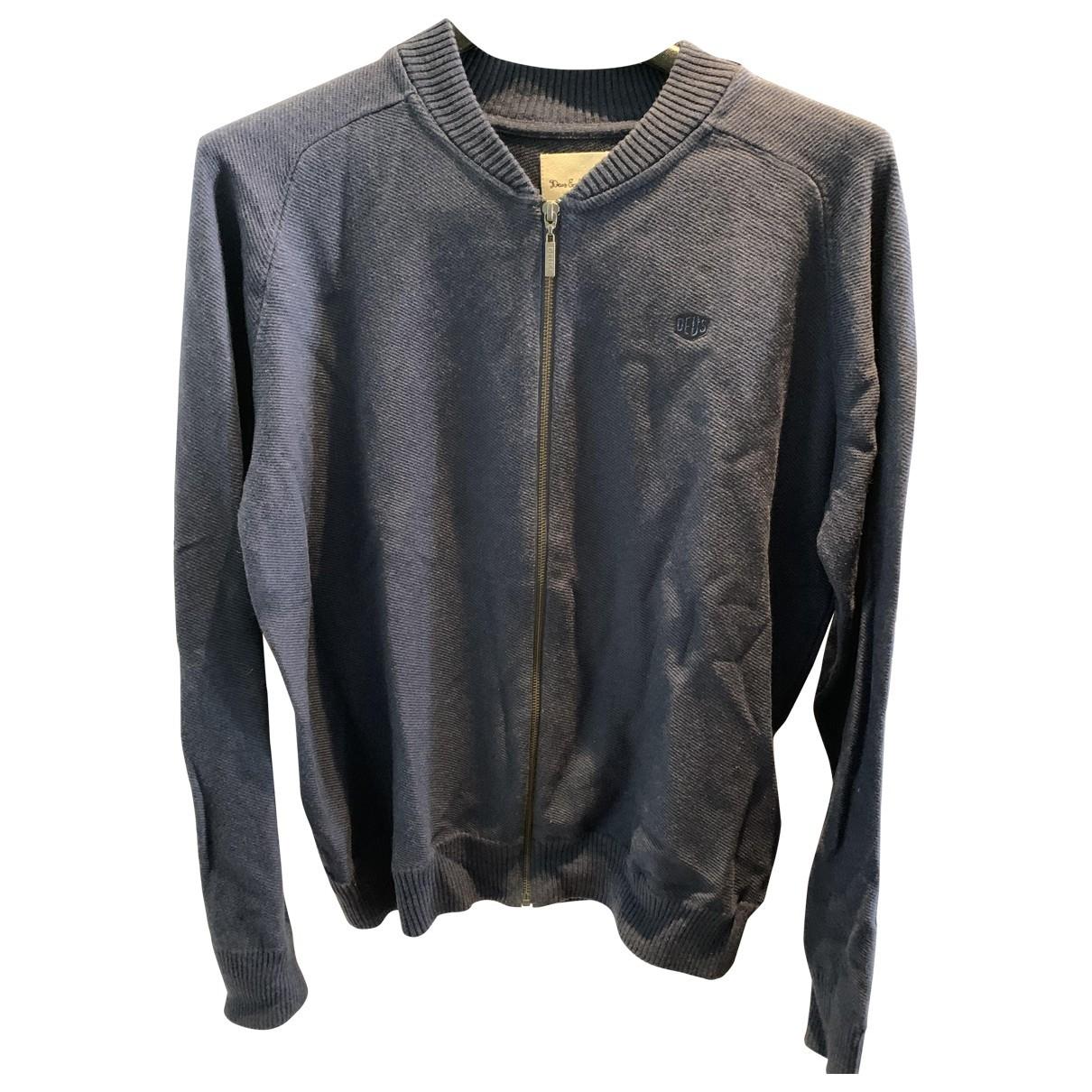 Deus Ex Machina \N Pullover.Westen.Sweatshirts  in  Blau Baumwolle