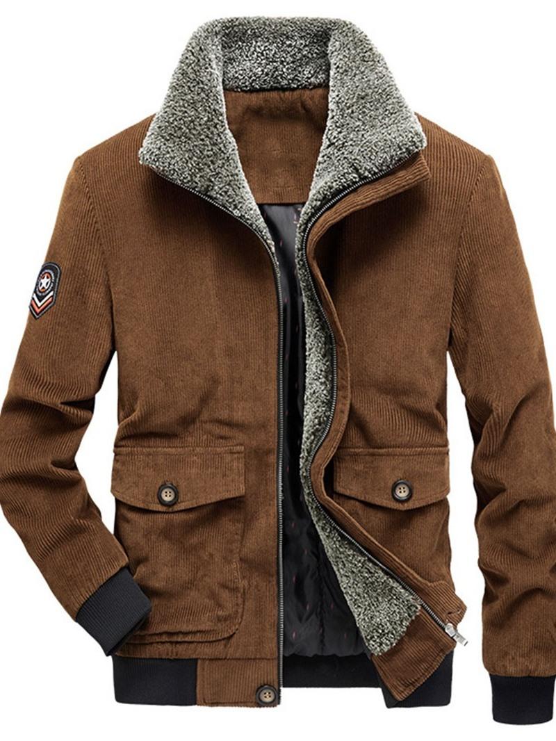 Ericdress Zipper Thick Color Block Men's European Jacket