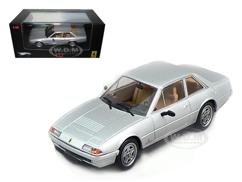 Ferrari 412 Silver Limited Edition Elite 1/43 Diecast Model Car by Hotwheels
