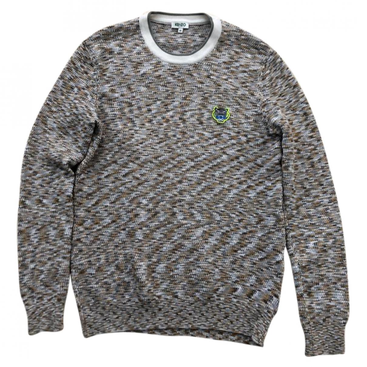 Kenzo \N Pullover.Westen.Sweatshirts  in  Ecru Baumwolle