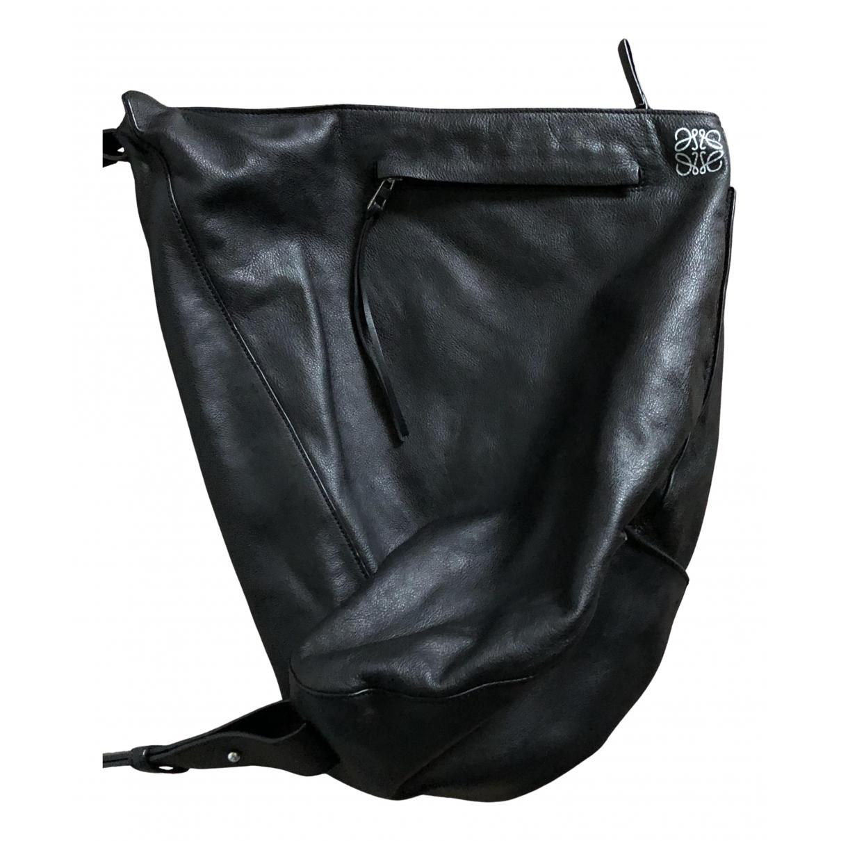 Loewe Anton Black Leather bag for Men \N