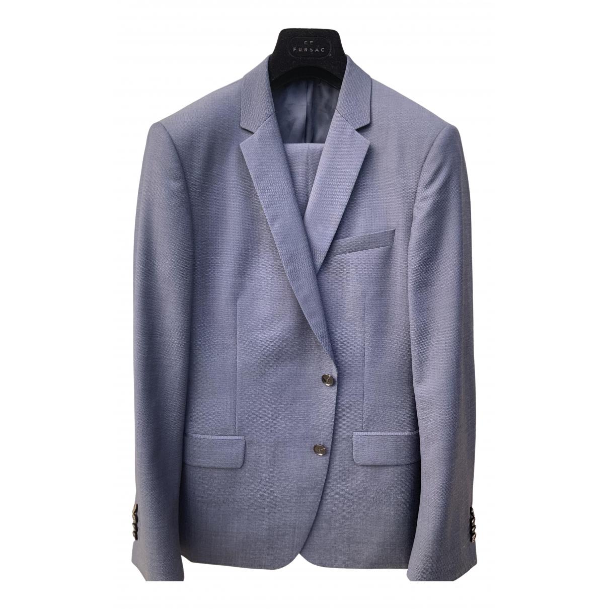 De Fursac - Costumes   pour homme en laine - bleu