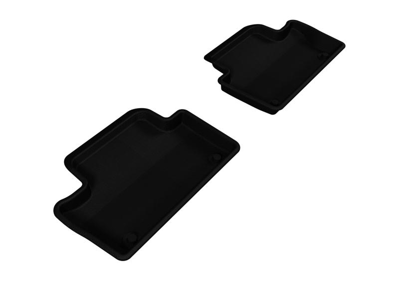 3D MAXpider 2010-2017 Volvo XC60 Kagu 2nd Row Floormats - Black