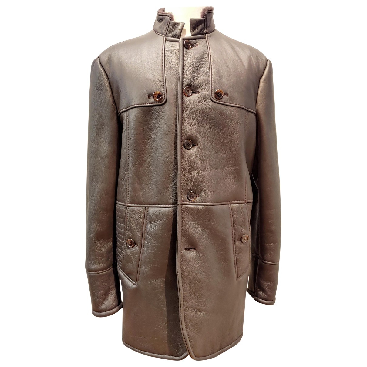 Francesco Smalto - Manteau   pour homme en mouton - gris