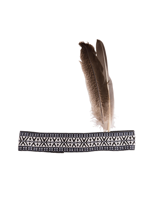 Kostuemzubehor Stirnband mit 2 braunen Federn