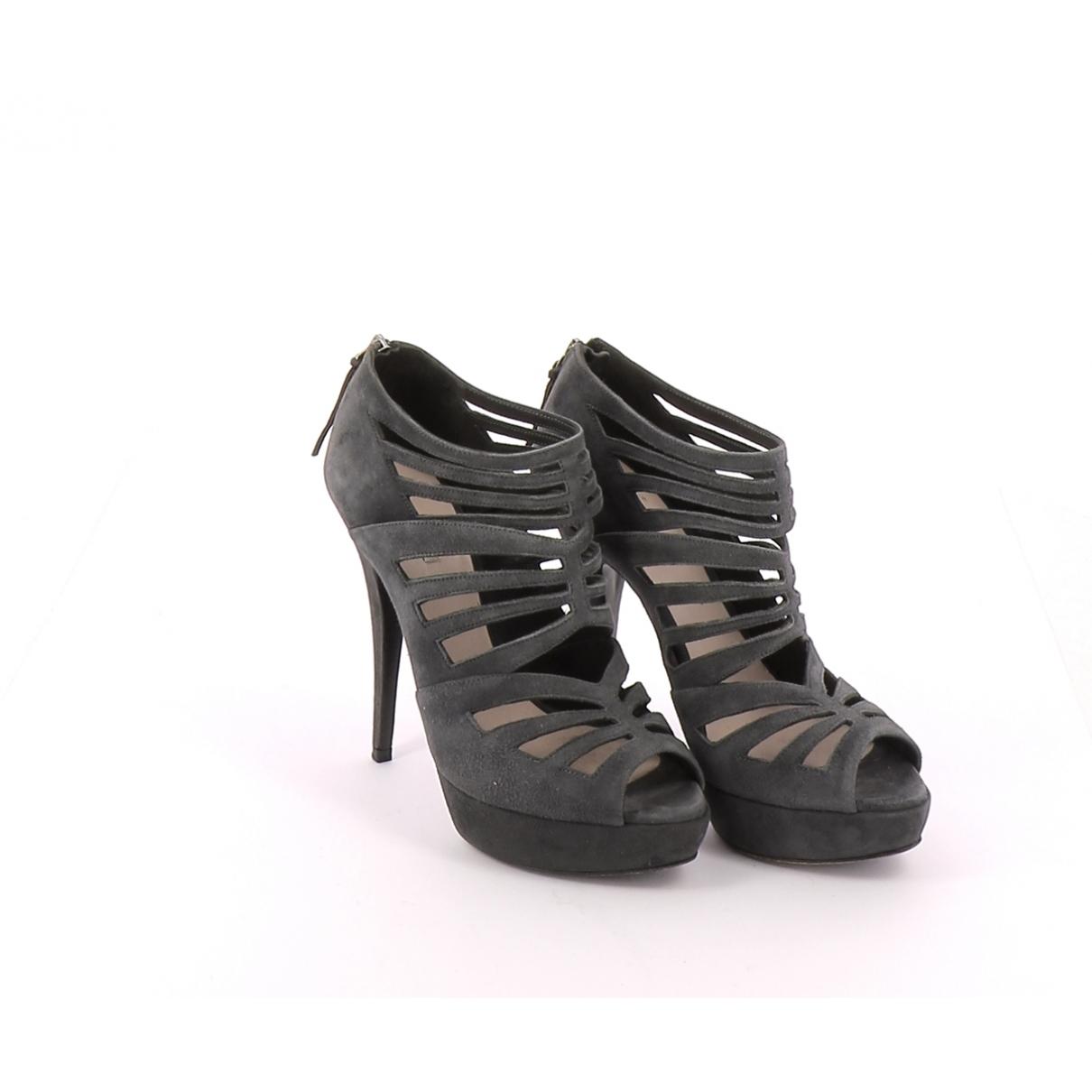 Miu Miu - Boots   pour femme en suede - gris