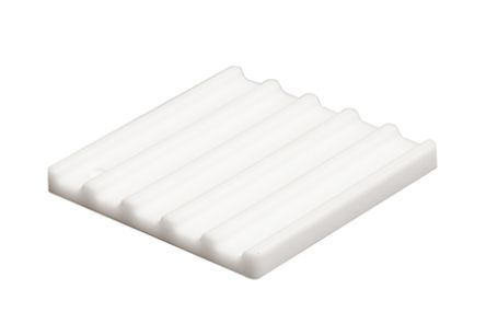 SPREADFAST Heatsink, Universal Square Ceramic, 31.5 °C/W @ 400 lfm, 45.4 °C/W @ 100 lfm, 25 x 25 x 2.5mm, Adhesive, Screw, White (5)