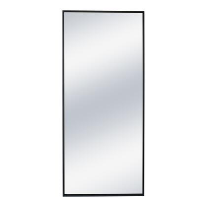 Squire Collection MJ-1050-02 Mirror with Black Iron Frame in Black