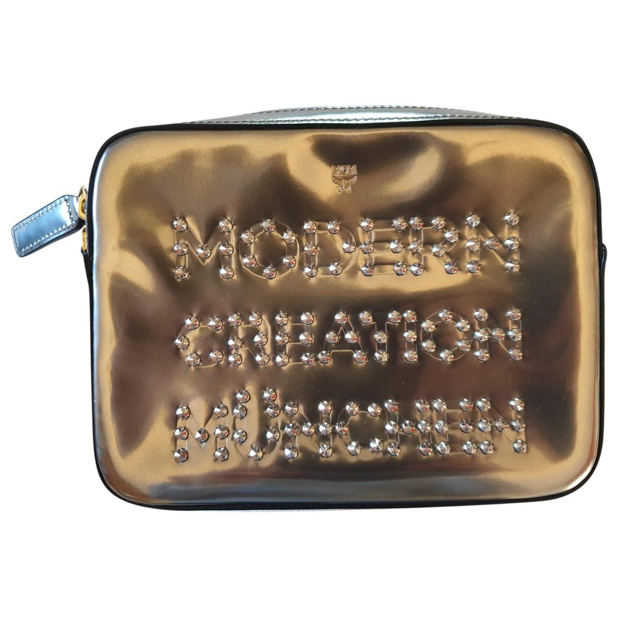 Mcm \N Handtasche in  Silber Synthetik