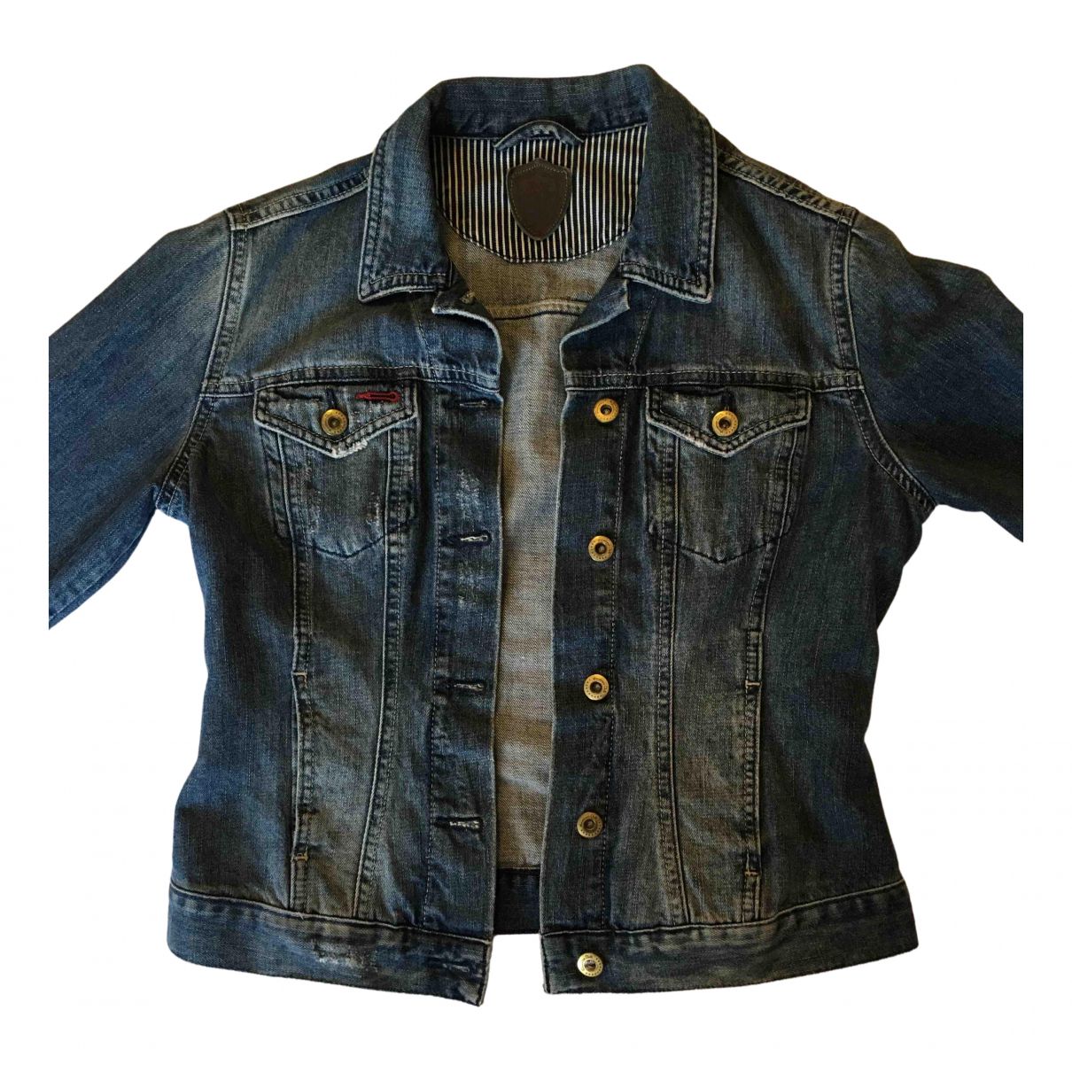 Massimo Dutti \N Jacke in  Blau Denim - Jeans
