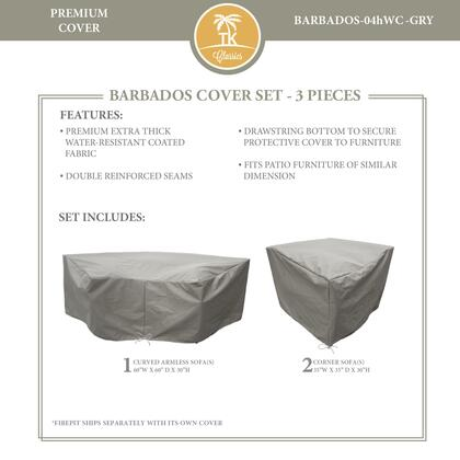 BARBADOS-04hWC-GRY Protective Cover Set  for BARBADOS-04h in