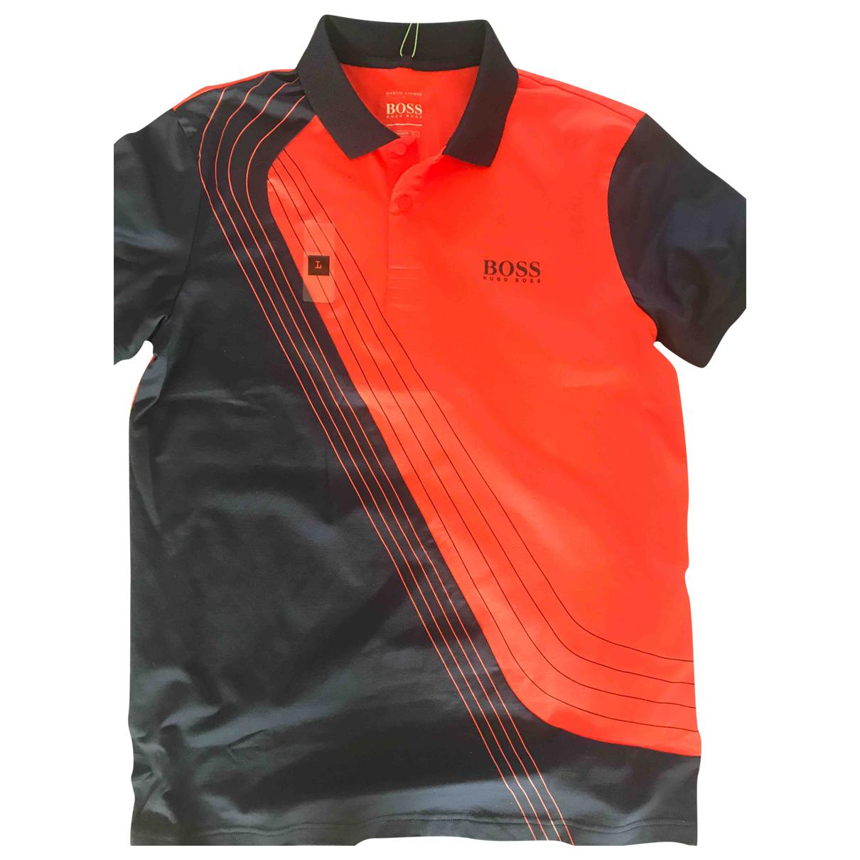 Boss \N Poloshirts in  Orange Baumwolle