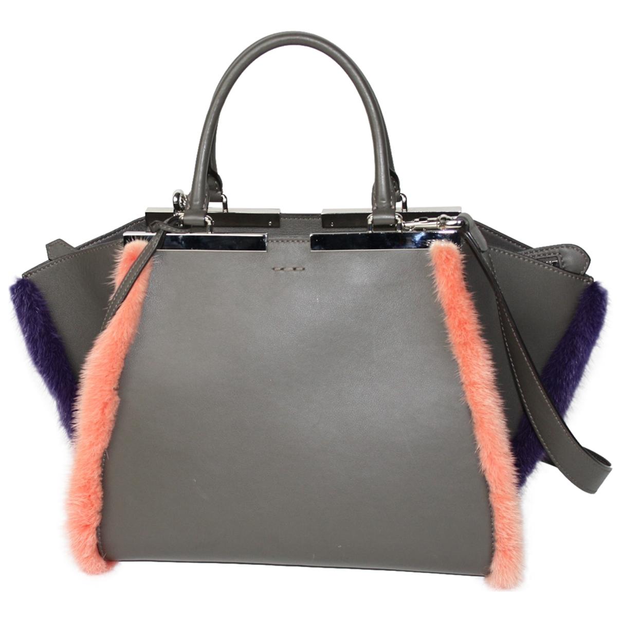 Fendi 3Jours Grey Leather handbag for Women \N