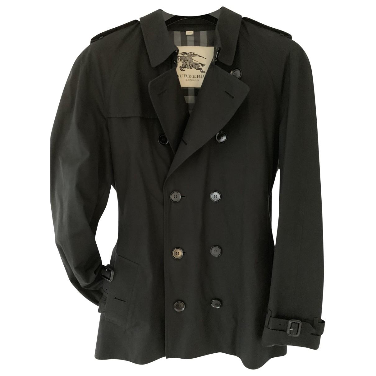 Burberry \N Black Cotton coat  for Men 50 FR