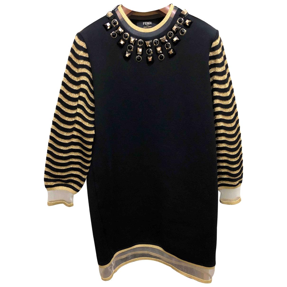 Fendi - Robe   pour femme en coton - noir
