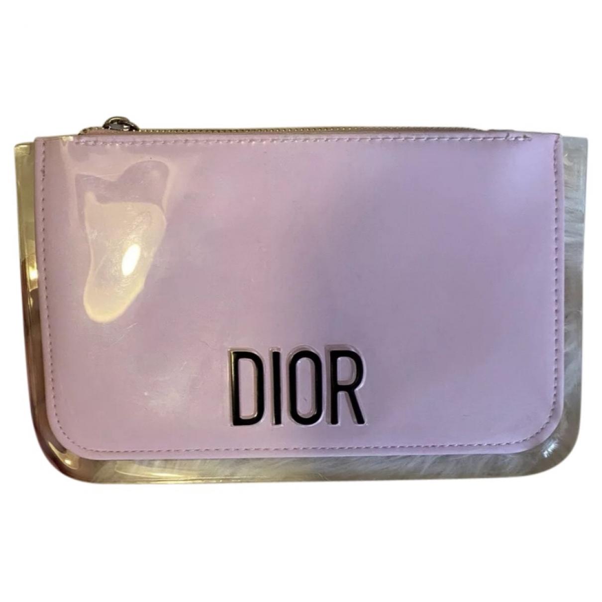 Dior \N Clutch in  Rosa Synthetik