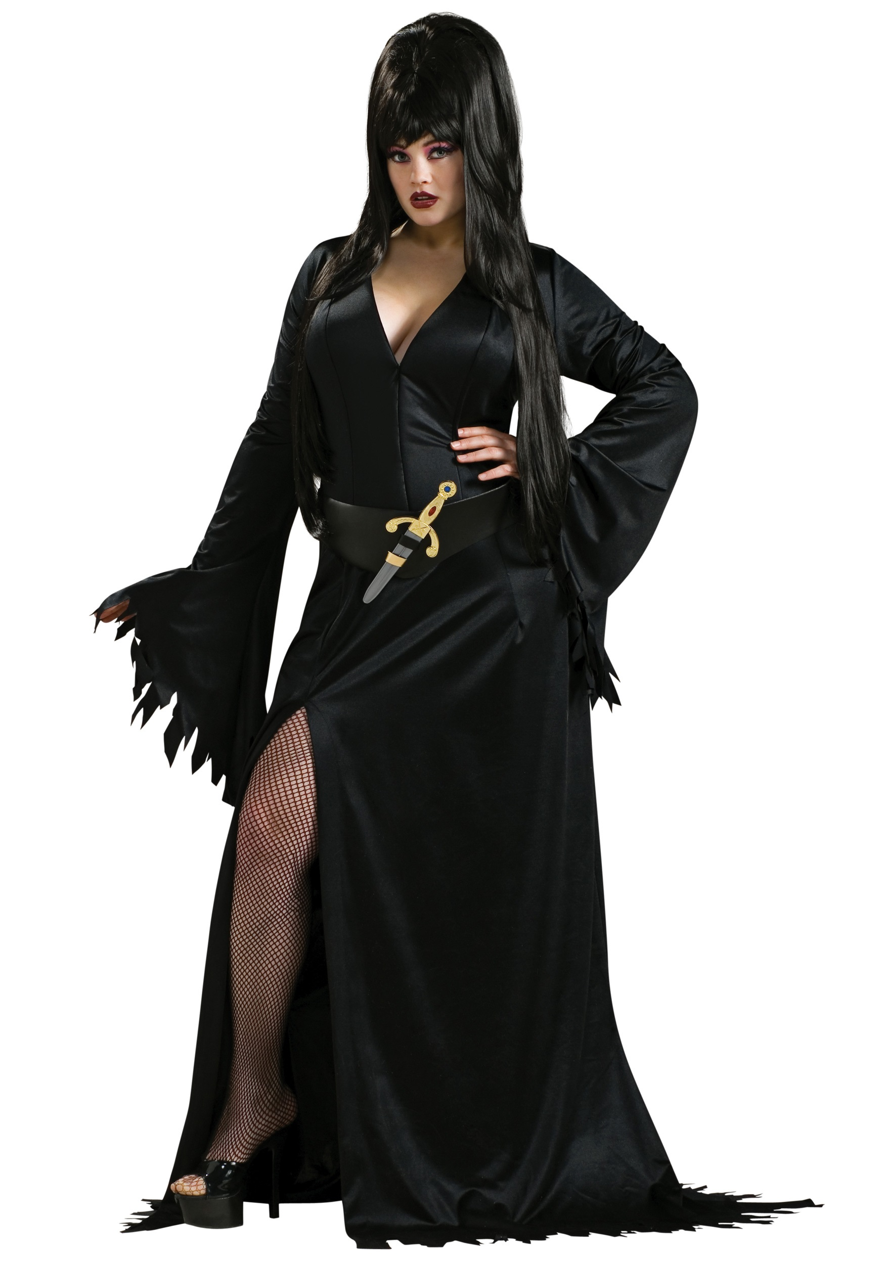Womens Plus Size Elvira Costume