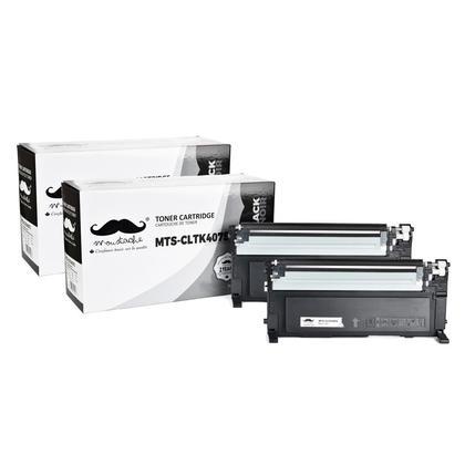 Compatible Samsung CLT-K407S cartouche de toner noire - Moustache - 2/paquet