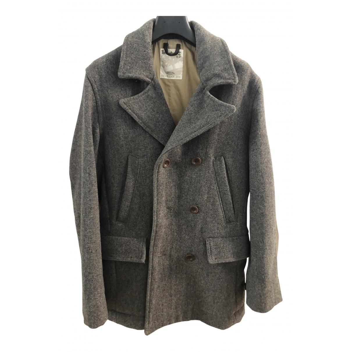 Timberland - Manteau   pour homme en laine - gris