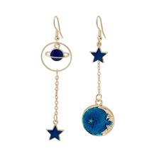 Star Decor Mismatched Drop Earrings