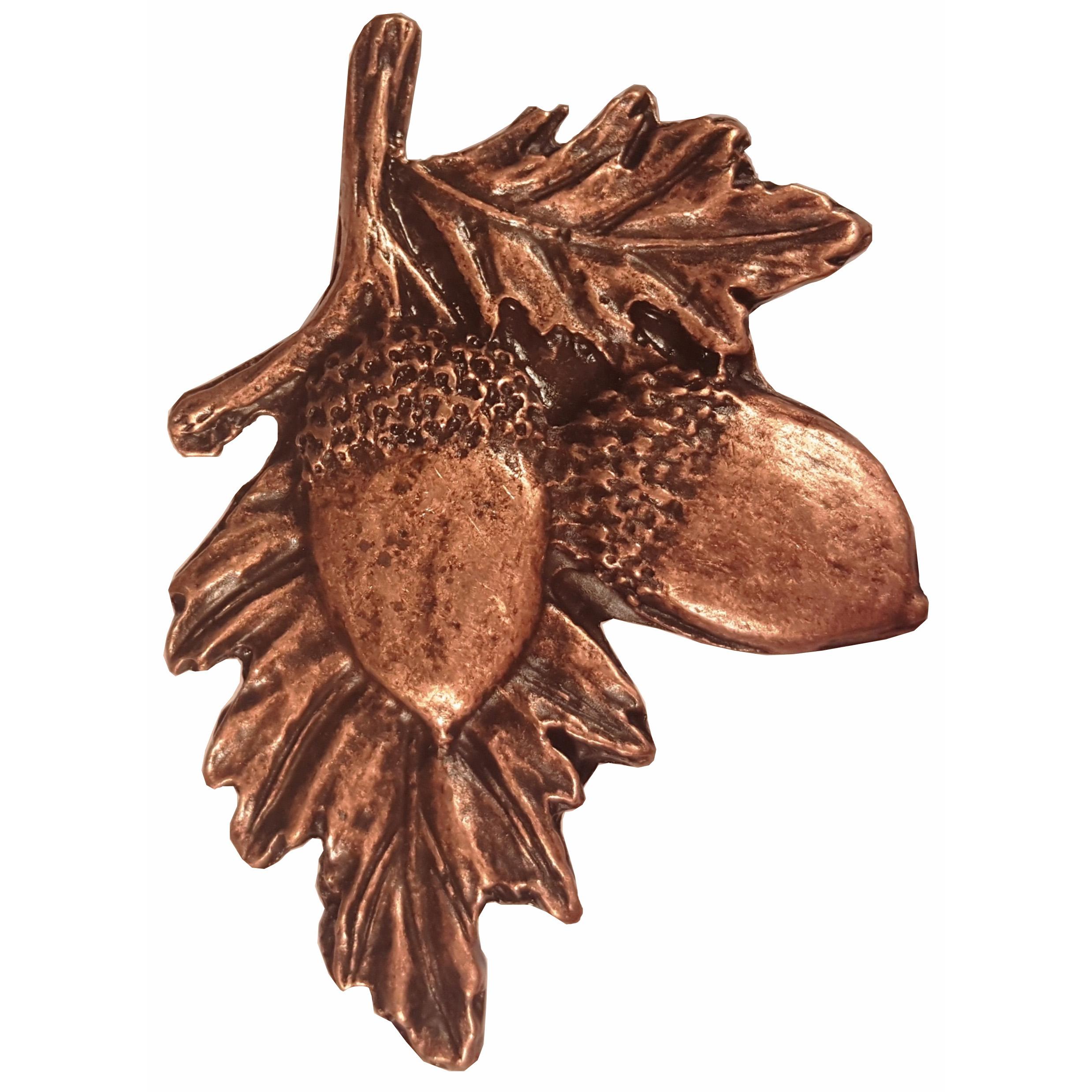 Acorns on Branch Pull, Antique Copper, Model 300AC