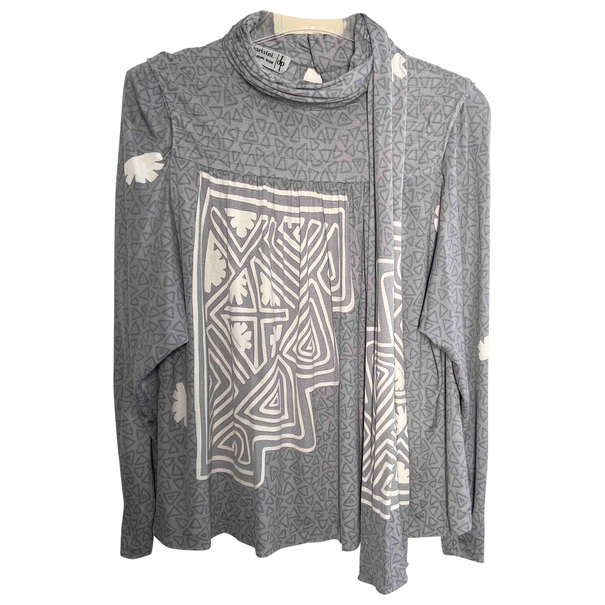 Non Signé / Unsigned \N Grey Silk  top for Women M International