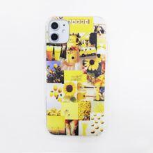 1 Stueck iPhone Etui mit Blumen Muster