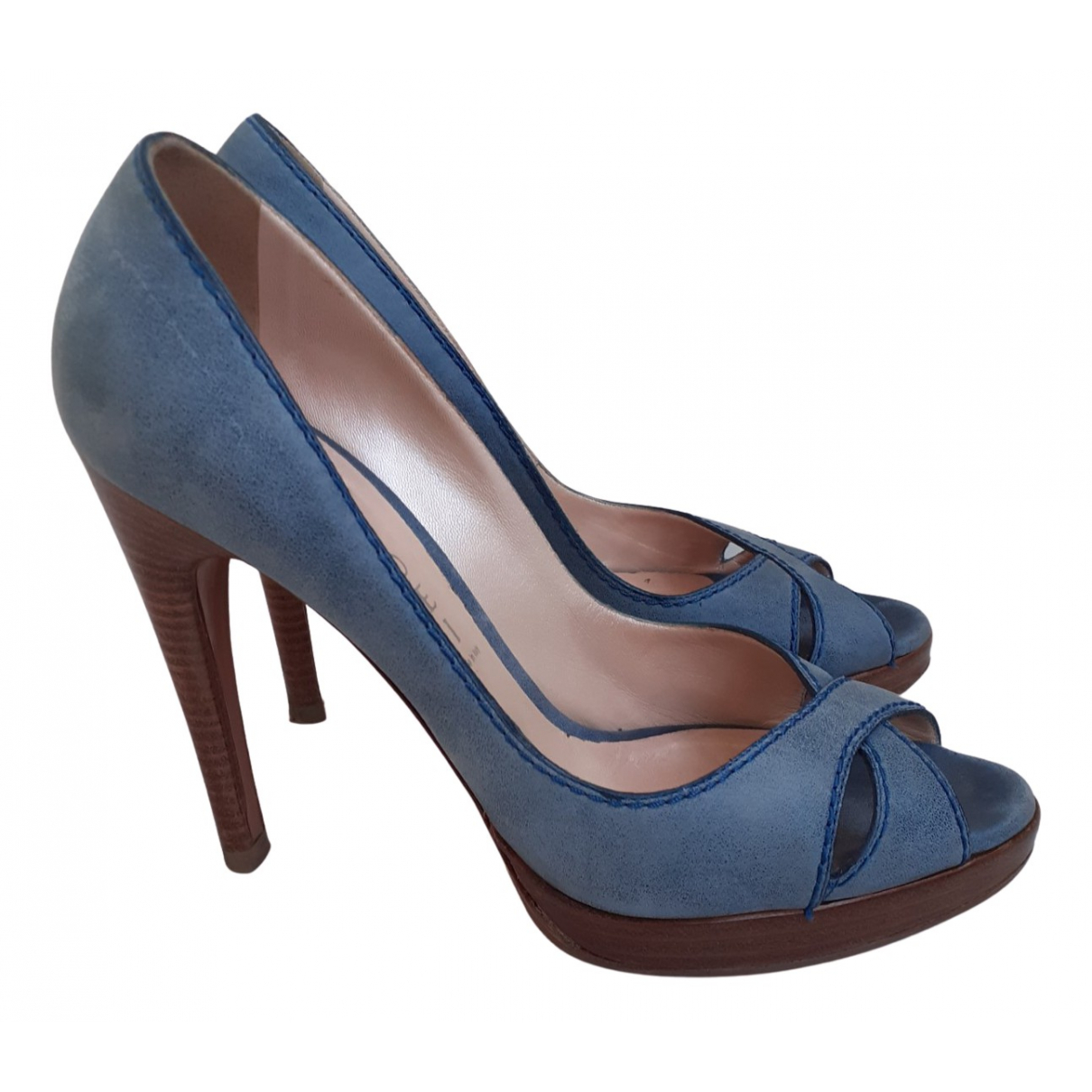 Casadei \N Pumps in  Blau Veloursleder