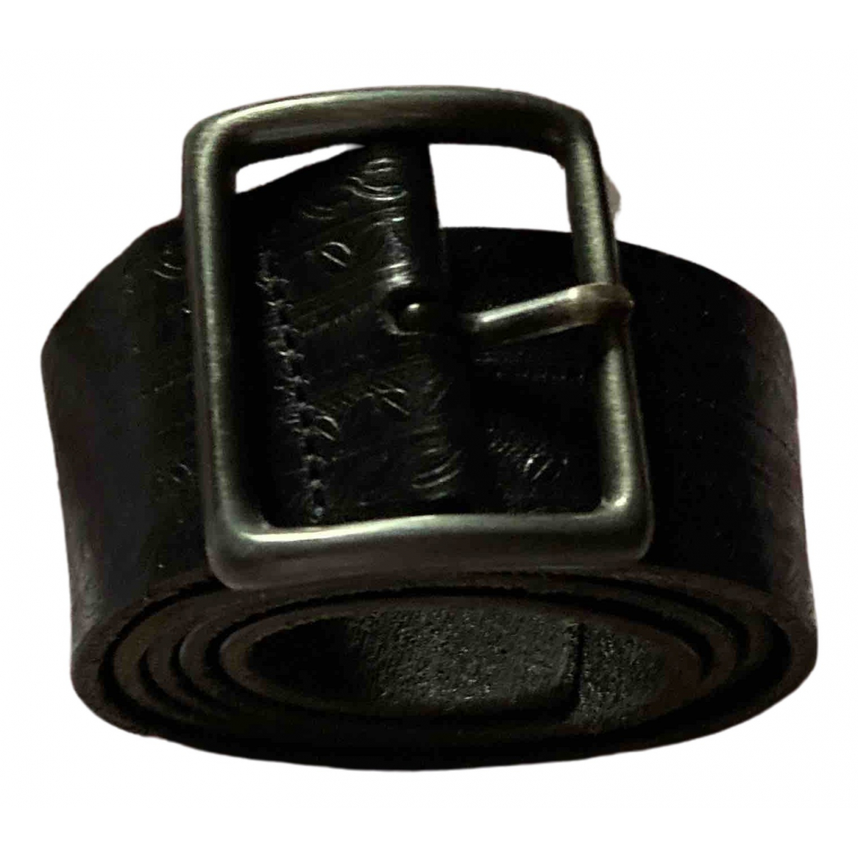 Stefanel \N Black Leather belt for Women L International