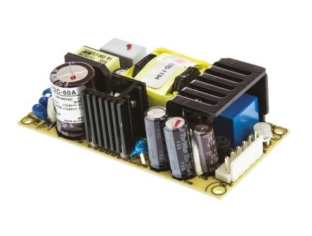 Mean Well , 59W Embedded Switch Mode Power Supply SMPS, 13.8V dc, Open Frame