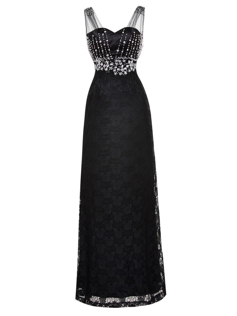 Ericdress Sheath Pearls Rhinestones Beading Sleeveless Evening Dress