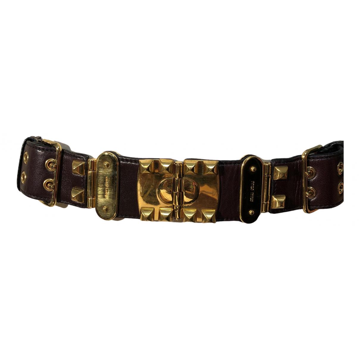 Miu Miu \N Brown Leather belt for Women 90 cm