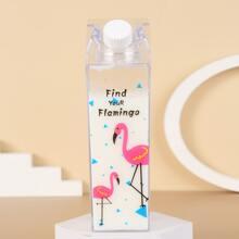 1pc Cartoon Milk Bottle Design Clear Water Bottle