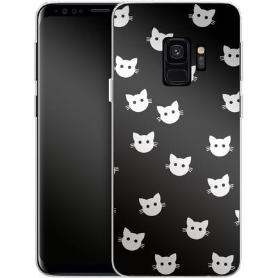 Samsung Galaxy S9 Silikon Handyhuelle - Cat Pattern von caseable Designs