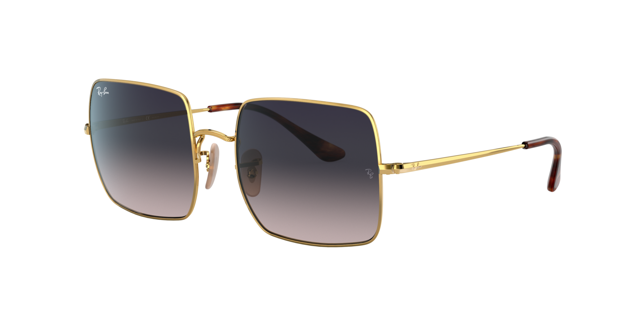 Ray Ban Woman  RB1971 SQUARE 1971 CLASSIC -  Frame color: Gold, Lens color: Blue, Size 54-19/145