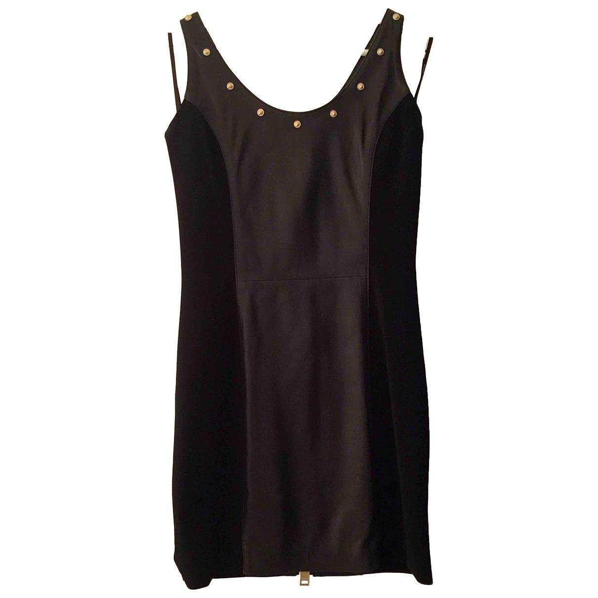 Versus \N Kleid in  Schwarz Leder